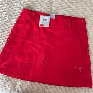 NEW puma pink golf skirt
